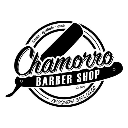 Diseño logotipo Chamorro Barber Shop, Eva García Alende Diseva
