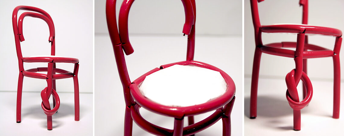 Maqueta silla 214K Michael Thonet por Eva García Alende - Diseva_